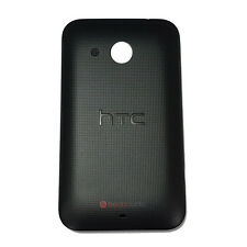 Battery Back Cover For HTC Desire C Black Dotted Pattern Genuine Part