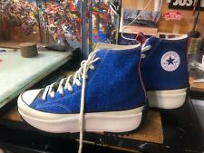 Converse JW Anderson Run Star Hike Hi Blue Glitter Size US 11.5 Men 164842C New