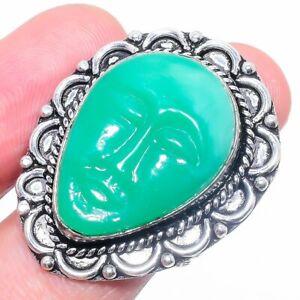 Cameo Face Gemstone Handmade Ethnic Gift Jewelry Ring Size 8.5 P268