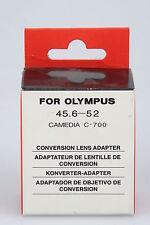 Adaptador convertidor/conversion lens adaptador para Olympus CAMEDIA c-700