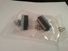 M:Part Leather Faced Brake Pads Pair Retro Brakepad