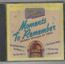 """Reader's Digest """"Moments To Remember, Golden Groups Of 1955 (CD, 2000) Free Ship"""