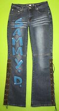 R4R Rave 4 Real Sammy D sz Medium Juniors Womens Blue Jeans Denim Pants EP54