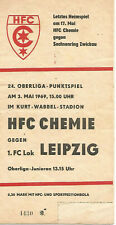 HFC Chemie Halle - 1.FC Lok Leipzig   1968/69  DDR-Oberliga