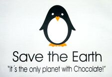 "T-SHIRT ""Save the Earth-PINGUINO"" S M L XL XXL anche come Donna-Girli Shirt Nuovo"