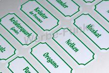 66 Gewürzetiketten, Etiketten, Gewürze, Aufkleber grün
