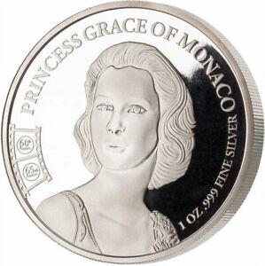 PRINCESS OF MONACO GRACE KELLY CAMEROON 2020 1 OZ SILVER COIN 100 FRANCS