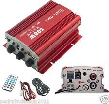 PDR*AMPLIFICATORE AUDIO BLUETOOTH AUTO 12V FM USB MP3STEREO TELECOMANDO MA-700BT