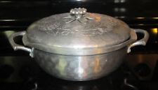 Vintage Everlast Forged Hammered Aluminum Pan Floral Handle and Lid