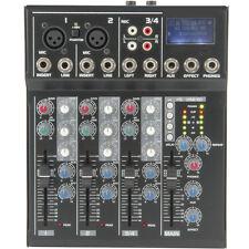 4 Channel PA/DJ Karaoke Mixer–USB/SD Effects Recording FX loop Delay Cross Fade