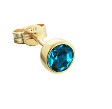 Single Ear Studs Gold 333 5 50mm Turquoise Cubic Zirconia Ladies Mens Children 5