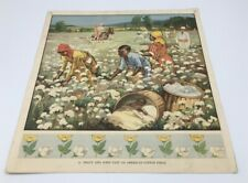 More details for macmillan 1930's british educational poster, 11.peggy john american cotton field