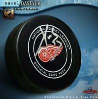 PAVEL DATSYUK Signed Detroit Red Wings Official Game Puck