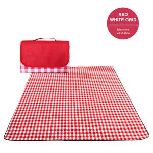 Large Picnic Blanket Premium Cashmere RED Rug Waterproof Mat Outdoor 200X200cm