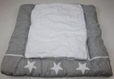 Wickelauflage 2 abnehmbare Bezüge 75 x 80cm 75 x 85cm weiss grau Stars