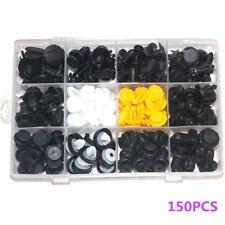 150X Auto Fastener Clip Set Car Body Plastic Push Pin Rivet Fasteners Boxed Kit
