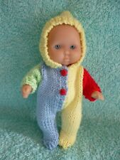 "Hand knitted set for a 5"" Berenguer Doll/similar"