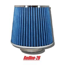 """Blue Universal Round Cone Cold Air Filter Replacement (2.5"""" / 63.5 mm) Inlet"""