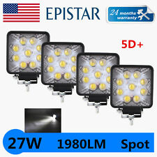 4X 27W Led work Light SPOT Motor Suv ATV Offroad Truck Tractor 5D Opticals 18/48