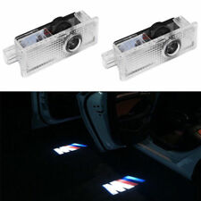 2PCS For BMW M ///M Logo LED Step Door Courtesy Welcome Light Ghost Shadow light