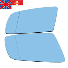 Pair Heated Tinted Blue Wing Mirror Glass for BMW E60 E61 E63 E64 528i 535i 550i