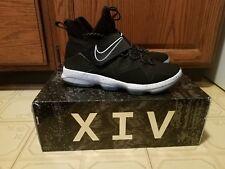 Nike Lebron XIV size 10 black/white basketball shoes