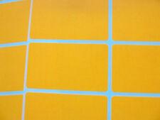 24 Naranja Papel Mini pegatinas, 52x30mm rectángulo, Etiquetas, Lisos, Blanco, blc537