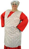 Feedsack-1940's-WW2-Wartime-NORA BATTY Wrap around Pinny Fancy Dress Plus 18-40