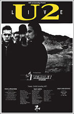 U2 Joshua Tree Tour 1987 Wembley Concert Poster