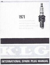 Vintage motorcycle spark plug KLG Lodge Champion NGK conversion data 13 pages
