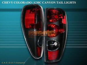 2004-2010 CHEVY COLORADO / GMC CANYON TAIL LIGHTS BLACK BRAKE LAMPS NEW