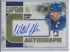 "Wendel Clark Hard-signed auto on 4 x 6"" ITG PhotoCard [2011 Fall Expo] Captain C"