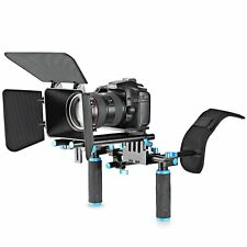 NEW DSLR Video Rig Set Movie Kit Film Making System Shoulder Mount for Canon -US