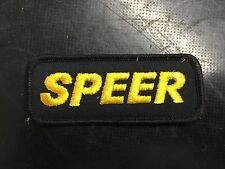 Vintage Speer Bullets Sew On Patch New Old Stock Reloading Shooting Hunting