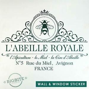 ROYAL BEEKEEPER Wall & Window Sticker Victorian Vintage Ad  #101 (& for Mirror)