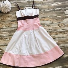 Trixxi Dress Juniors 9 Colorblock Pink Party Cotton White Stretch Sleeveless Jrs