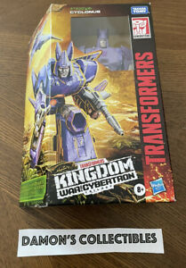 Transformers CYCLONUS Kingdom War For Cybertron Voyager Class Action Figure NEW