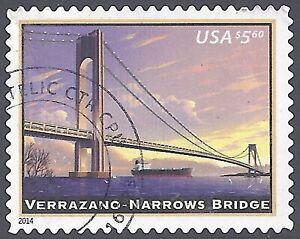 Verrazano Narrows Bridge - 4872 2014 $5.60 Priority Mail Issue - Used