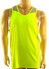 CALVIN KLEIN NEW $40.00 NEON YELLOW PERFORMANCE ATHLETIC TANK TOP SHIRT  L LARGE