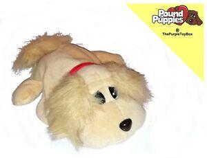 """2000 Jakks Pacific Pound Puppies / Purries ~ PUPPY ~ 7"""" Plush Beanie Toy"""