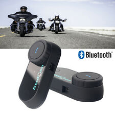 2x Moto Motorcycle Helmet Casque Bluetooth Wireles Interphone Intercom 800M+ FM