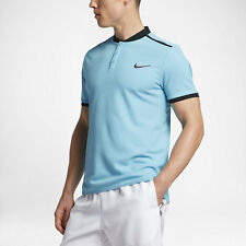 NikeCourt Advantage modern fit tennis polo - adult S in sky blue