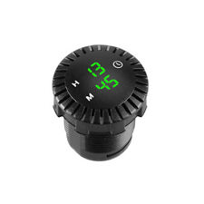 Universal 12 24vled Luminous Round Time Display Car And Ship Clock Modification