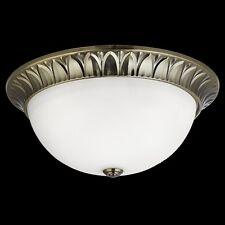 Deckenleuchte Deckenlampe Wandleuchte Lampe Glas  Weiß Chrom LED Kompatibel