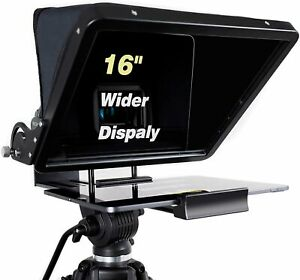 16 Inch Large Teleprompter for All Tablet (Including 12.9-Inch Tablet)