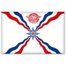 "Assyrian Flag car bumper sticker window decal 5"" x 3"""