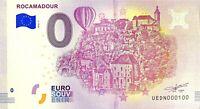 BILLET 0  EURO ROCAMADOUR  FRANCE  2018  NUMERO 100