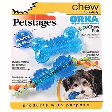 PETSTAGES ORKA PETITE CHEW PAIR Durable Material for Dogs that Love to Chew