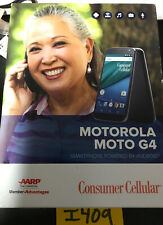 ✅Motorola Moto G4 (4th Gen.) XT1625 Black Cell Phone -Consumer Cellular - Sealed