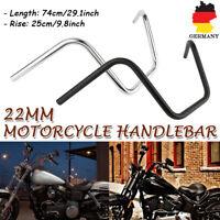 Motorrad Apehanger 10''Hoch 7/8'' 22mm Z-Lenker Handlebar Stahl Für Honda Harley